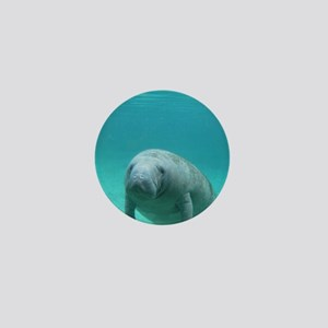 Seacow or Manatee Swimming Undereater  Mini Button