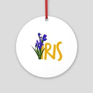Iris Ornament (Round)