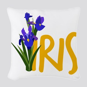 Iris Woven Throw Pillow