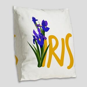 Iris Burlap Throw Pillow