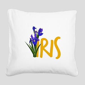Iris Square Canvas Pillow