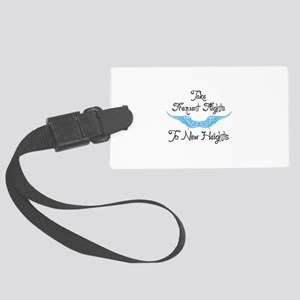 To New Heights Luggage Tag