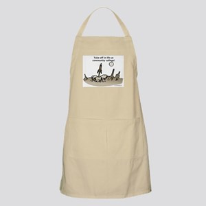Take off at Community College BBQ Apron