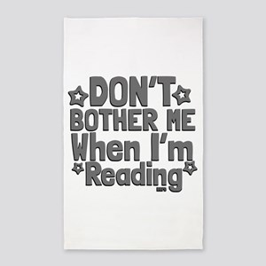 Reading Don't Bother Me 3'x5' Area Rug