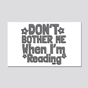 Reading Don't Bother Me Wall Decal