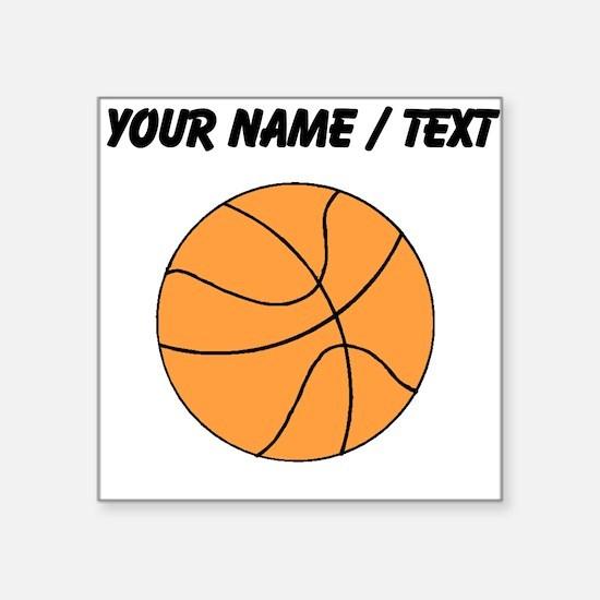 Custom Orange Basketball Sticker