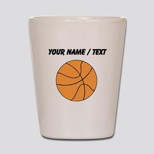 Custom Orange Basketball Shot Glass