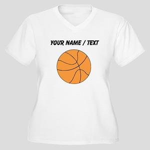 Custom Orange Basketball Plus Size T-Shirt