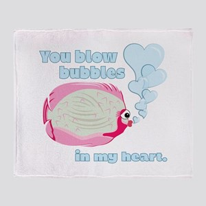 Bubbles In My Heart Throw Blanket
