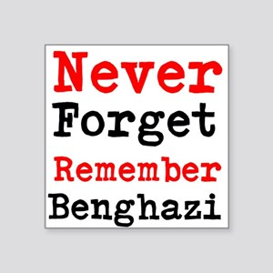 Never Forget Remember Benghazi Sticker