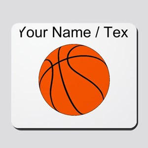 Custom Orange Basketball Mousepad