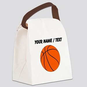 Custom Orange Basketball Canvas Lunch Bag