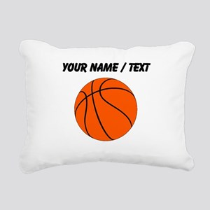 Custom Orange Basketball Rectangular Canvas Pillow