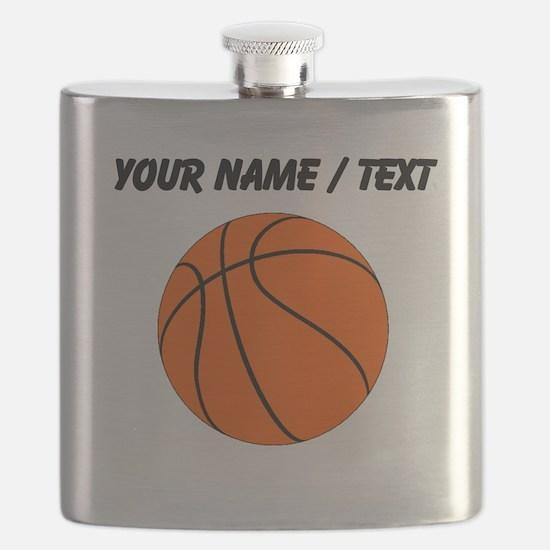 Custom Orange Basketball Flask