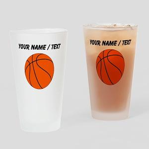 Custom Orange Basketball Drinking Glass