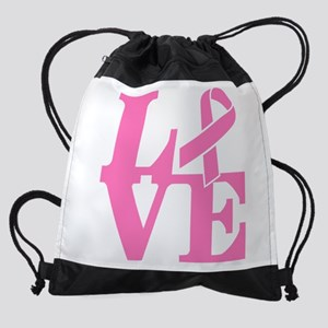 LOVE and Support Drawstring Bag