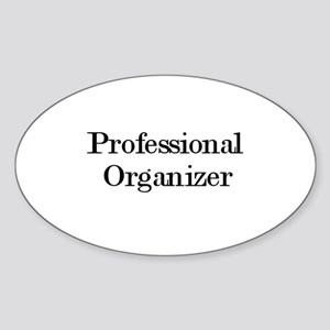 Professional Organizers Oval Sticker