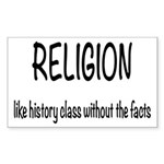 Religion: History Without Fact Sticker (Rectangle)