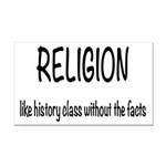 Religion: History Without Fac Rectangle Car Magnet