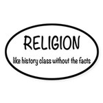 Religion: History Without Fac Sticker (Oval 10 pk)