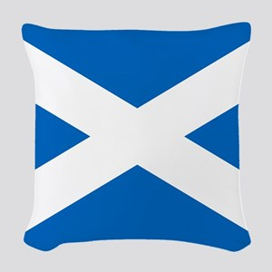 Scottish Flag Woven Throw Pillow