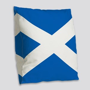 Scottish Flag Burlap Throw Pillow