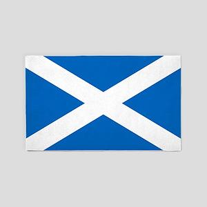 Scottish Flag 3 X5 Area Rug