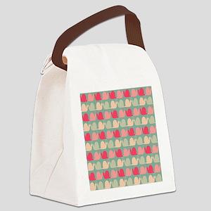 Retro Fun Snail Pattern Canvas Lunch Bag