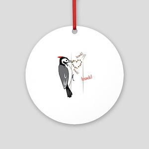 Woodpecker Ornament (Round)