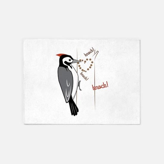 Woodpecker 5'x7'Area Rug