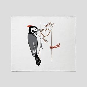 Woodpecker Throw Blanket