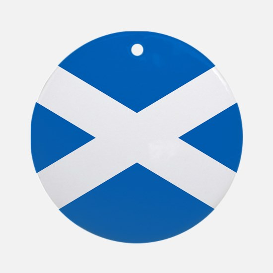 Scottish Flag Ornament (Round)