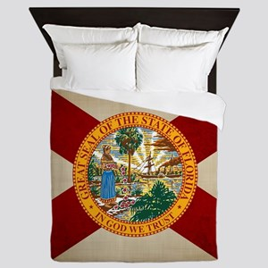 Vintage Florida Queen Duvet