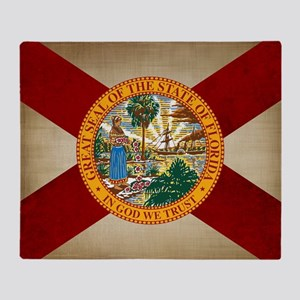 Vintage Florida Throw Blanket