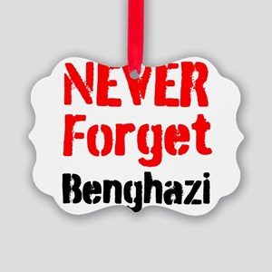 Never Forget Benghazi Ornament