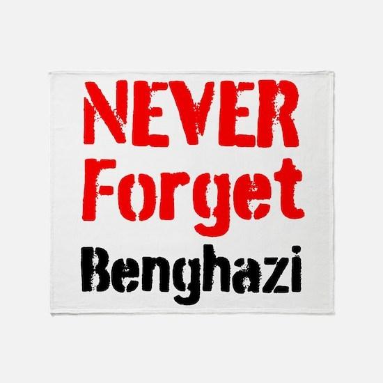 Never Forget Benghazi Throw Blanket