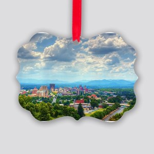 Asheville, North Carolina skyline Picture Ornament