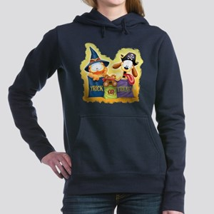Garfield Trick Or Treat Women's Hooded Sweatshirt