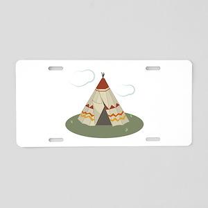 Teepee Tent Aluminum License Plate