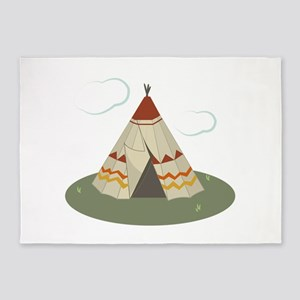 Teepee Tent 5'x7'Area Rug
