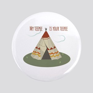 "Teepee Home 3.5"" Button"