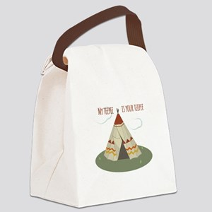 Teepee Home Canvas Lunch Bag