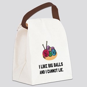 Big Knitting Balls Canvas Lunch Bag