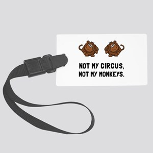 Circus Monkeys Luggage Tag