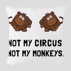 Circus Monkeys Woven Throw Pillow