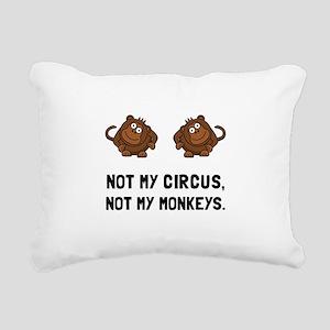 Circus Monkeys Rectangular Canvas Pillow