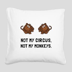 Circus Monkeys Square Canvas Pillow
