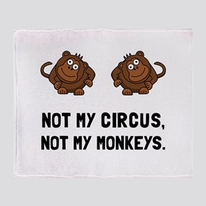 Circus Monkeys Throw Blanket