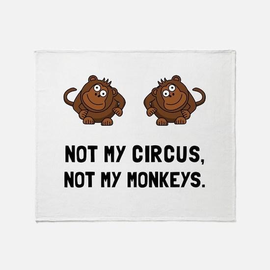Circus Monkeys Throw Blanket