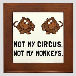 Circus Monkeys Framed Tile
